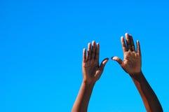 Afrikaanse handen Stock Afbeeldingen