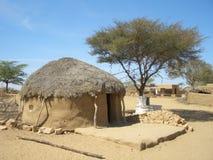 Afrikaanse hut   Stock Foto's