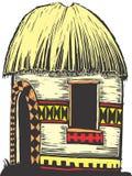Afrikaanse Hut Royalty-vrije Stock Afbeeldingen