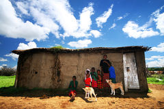 Afrikaanse jonge geitjes Stock Afbeeldingen