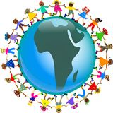 Afrikaanse jonge geitjes Stock Foto