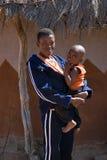 Afrikaanse kind en moeder Stock Foto