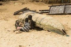 Afrikaanse kinderen in Ghana royalty-vrije stock afbeelding