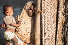 Afrikaanse kinderen in het Eiland van Zanzibar Royalty-vrije Stock Fotografie