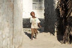 Afrikaanse kinderen in het Eiland van Zanzibar Royalty-vrije Stock Foto