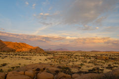 Afrikaanse landschappen - Spitzkoppe Namibië Royalty-vrije Stock Foto's