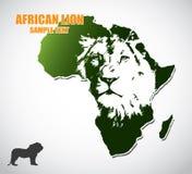 Afrikaanse leeuw royalty-vrije illustratie