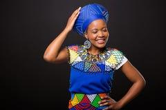 Afrikaanse maniervrouw Royalty-vrije Stock Afbeelding