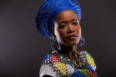 Afrikaanse maniervrouw Stock Foto's