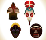Afrikaanse maskers royalty-vrije illustratie