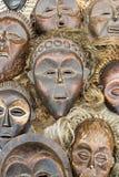 Afrikaanse maskers Royalty-vrije Stock Foto's