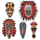 Afrikaanse maskers Stock Afbeelding