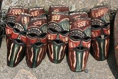 Afrikaanse Maskers Stock Afbeeldingen
