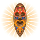 Afrikaanse medicijnman rituele maskers Royalty-vrije Stock Foto