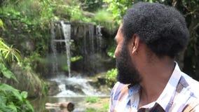 Afrikaanse Mens met Baard stock video