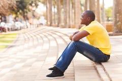 Afrikaanse mensenstad Stock Fotografie