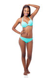 Afrikaanse model swimwear Stock Afbeeldingen