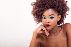 Afrikaanse modieuze vrouw Stock Afbeeldingen