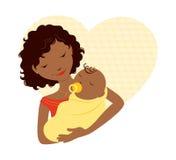 Afrikaanse moeder en baby Stock Foto's