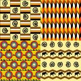Afrikaanse naadloze patronen Stock Foto's