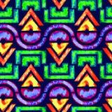 Afrikaanse naadloze patroon & x28; geel/groen/blue& x29; Royalty-vrije Stock Afbeelding
