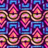 Afrikaanse naadloze patroon & x28; roze/groen/blue& x29; Stock Foto's