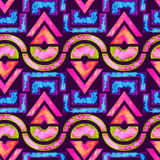 Afrikaanse naadloze patroon & x28; roze/groen/blue& x29; stock illustratie