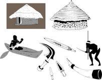 Afrikaanse Oude Levensstijl vector illustratie