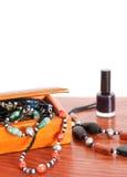 Afrikaanse parels en halsbanden Stock Afbeelding