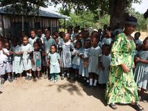 Afrikaanse school Stock Foto's