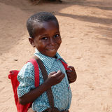 Afrikaanse schooljongen Stock Fotografie