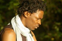 Afrikaanse schoonheid in bos Royalty-vrije Stock Afbeeldingen