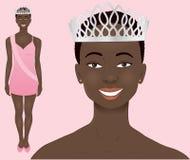 Afrikaanse schoonheidskoningin Stock Afbeelding