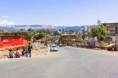 Afrikaanse stad Addis Ababa Stock Afbeeldingen