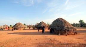 Afrikaanse stammenhut Stock Fotografie