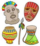 Afrikaanse stammeninzameling stock illustratie