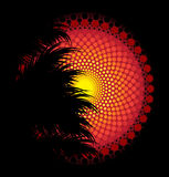 Afrikaanse stammenkunst vectorachtergrond Stock Afbeelding