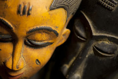 Afrikaanse StammenMaskers Royalty-vrije Stock Foto's