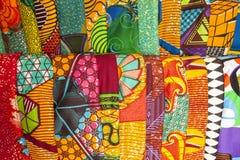 Afrikaanse stoffen van Ghana, West-Afrika Stock Afbeelding