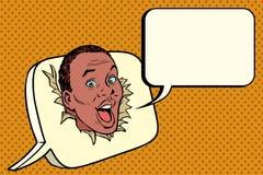 Afrikaanse strippaginabel, mededelingen en correspondentie vector illustratie