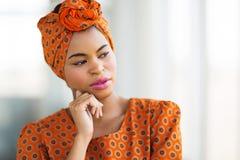 Afrikaanse traditionele onderneemster royalty-vrije stock foto