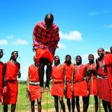 Afrikaanse traditionele sprongen Royalty-vrije Stock Afbeeldingen
