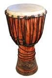 Afrikaanse traditionele trommel op een witte achtergrond Royalty-vrije Stock Afbeelding