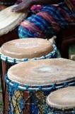 Afrikaanse trommels Royalty-vrije Stock Afbeeldingen