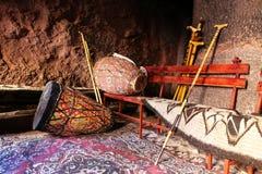 Afrikaanse trommels en pelgrimsstaaf, Ethiopië royalty-vrije stock afbeelding