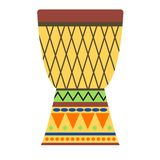 Afrikaanse trommels vectorillustratie Stock Afbeeldingen
