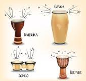 Afrikaanse trommelsinzameling Stock Foto's