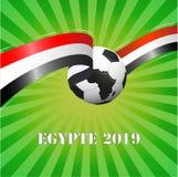 Afrikaanse van Egypte van 2019 vectorillustratie als achtergrond stock illustratie