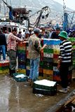 Afrikaanse vissengroothandelsmarkt voor iemand van weinig belangvissen royalty-vrije stock afbeeldingen