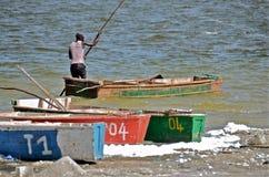 Afrikaanse visser Stock Afbeeldingen